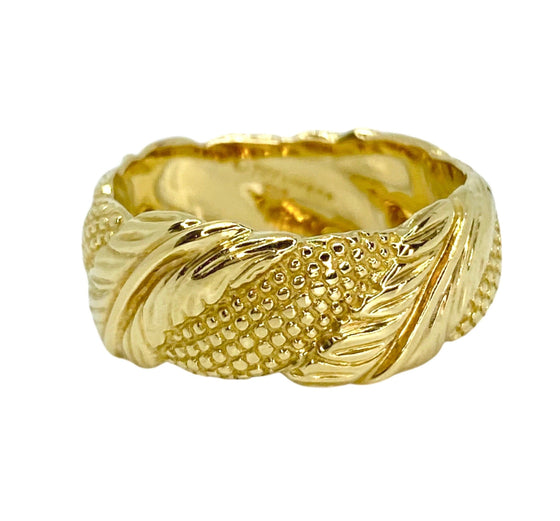 Vintage Tiffany & Co. 18K Gold Leaf Design Ring