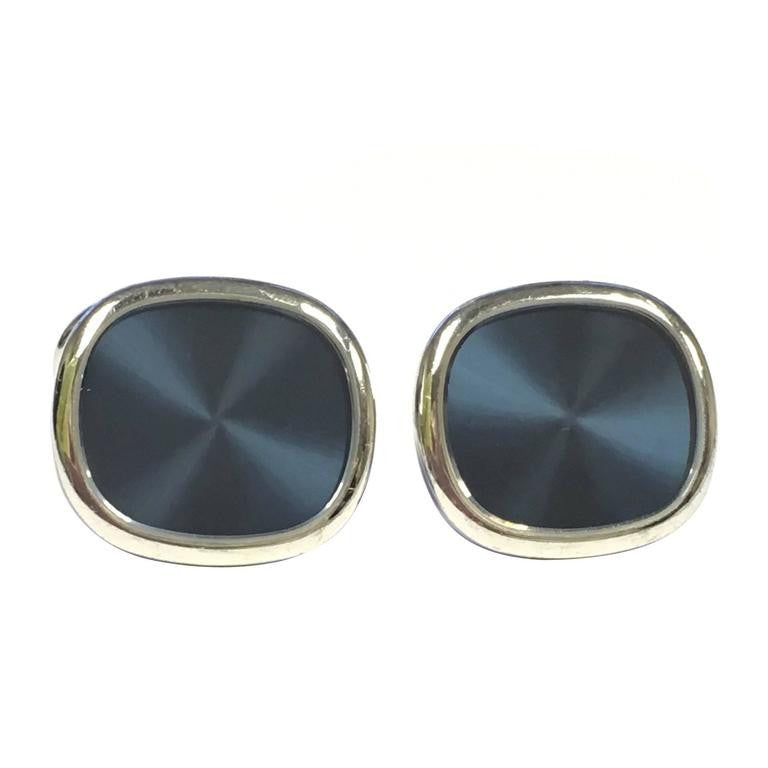 Patek Philippe Ellipse D'or Blue Sunburst Gold Cufflinks