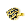 Vintage 18K Yellow Gold Sapphire Puffy Heart Pendant