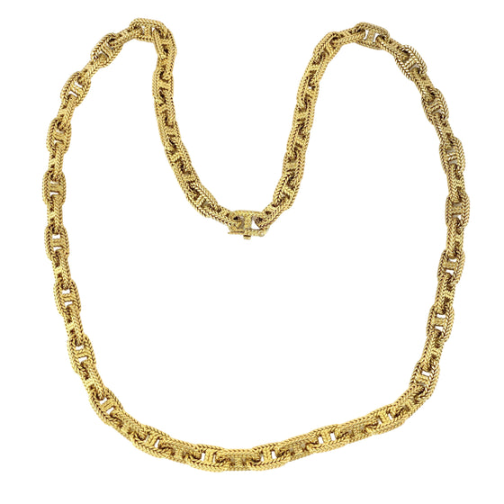 "Vintage HERMES Chaine d'Ancre 18k Yellow Gold Chain Link 23"" Necklace"