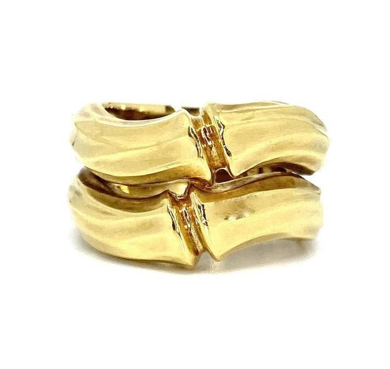 Vintage Cartier Bamboo 18K Yellow Gold Ring