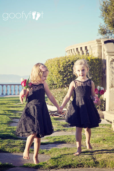 Emma Lace Flower Girl Dress