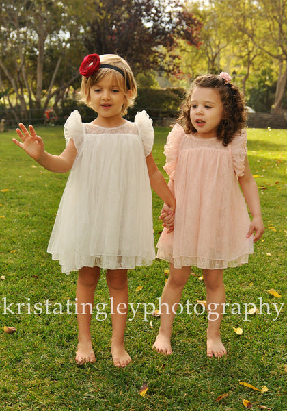 Melanie Lace Flower Girl Dress