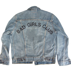 Bad Boys Club Bad Girls Club Custom Embroidered Denim Jacket