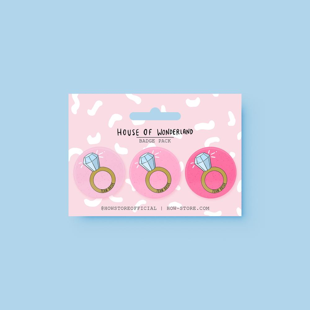Bride To Be Badge Pack