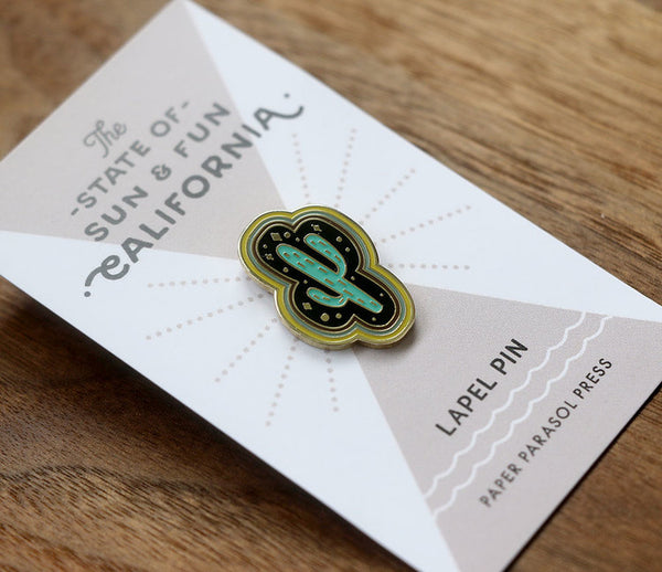 Cactus Magic Lapel Pin