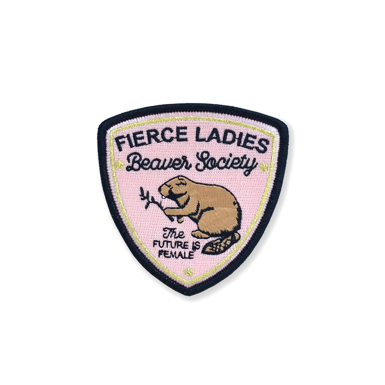 Fierce Ladies Beaver Society Embroidered Patch