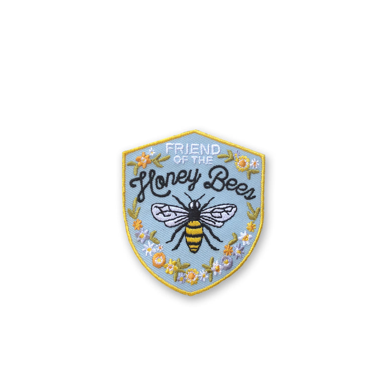 Honey Bee Embroidered Patch