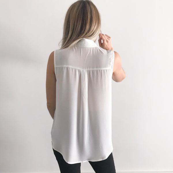 Customizable Embroidered Collar Sleeveless Shirt