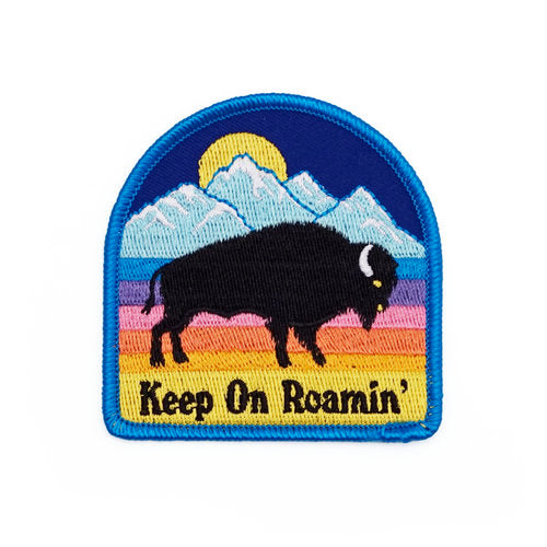 Bison Keep On Roamin' Embroidered Patch