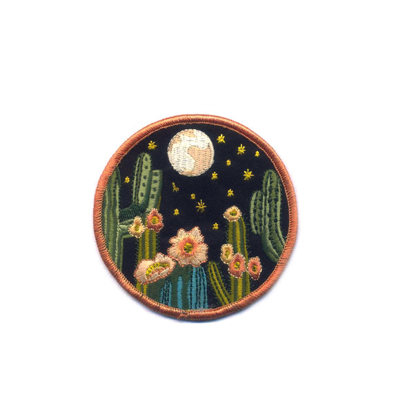 Night Cactus Embroidered Patch