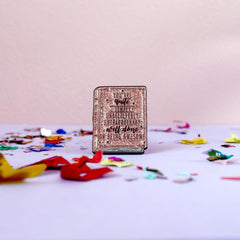 Positive Book Enamel Pin - Pink
