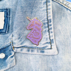 Unicorn Daydreams Enamel Pin - Lilac Iridescent Glitter