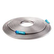 Sun Joe AJSGH100 Heavy-Duty Spiral Constructed Metal Garden Hose | 100-Feet · Stainless Steel
