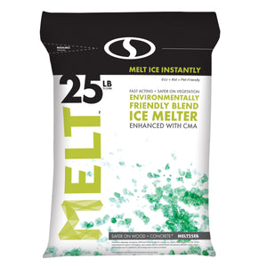 MELT 25 Lb. Resealable Bag Premium Environmentally-Friendly Blend Ice Melter w/ CMA
