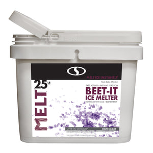 MELT 25 Lb. Bucket Beet-It Ice Melter w/ CMA & Beet Extract