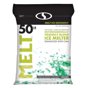 MELT 50 Lb. Resealable Bag Premium Environmentally-Friendly Blend Ice Melter w/ CMA