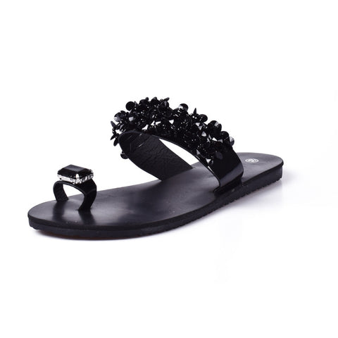 Women Sandals Flip Flops 2017 New Summer Fashion Rhinestone Wedges Shoes Woman Slides Crystal Beautiful Lady Casual Shoes Female