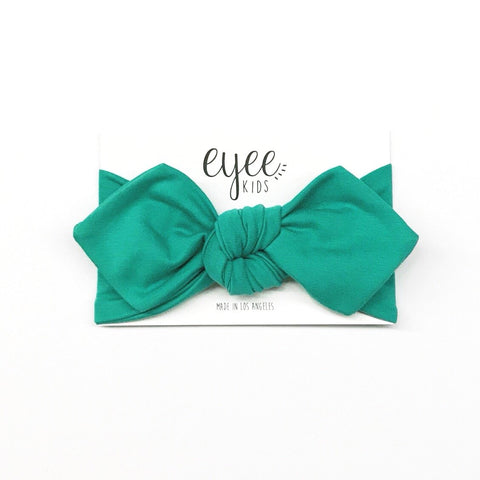 Top Knot Headband- Aqua