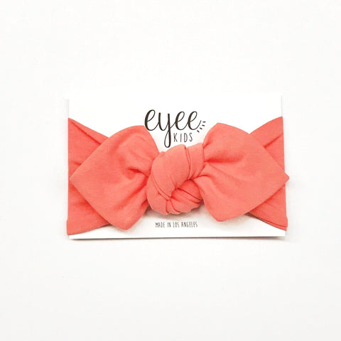 Top Knot Headband- Coral