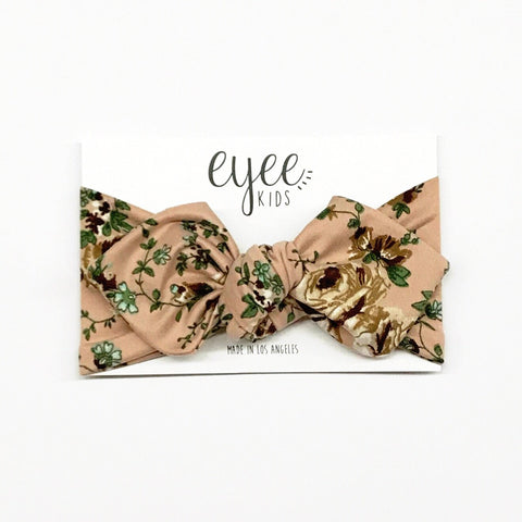 Top Knot Headband- Neutral Bloom