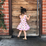 Ruffled Twirl Dress: Pink Pineapples
