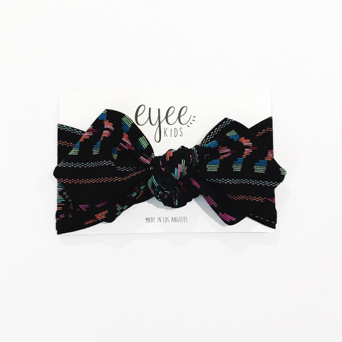 Top Knot Headband- Ethnic Rainbow