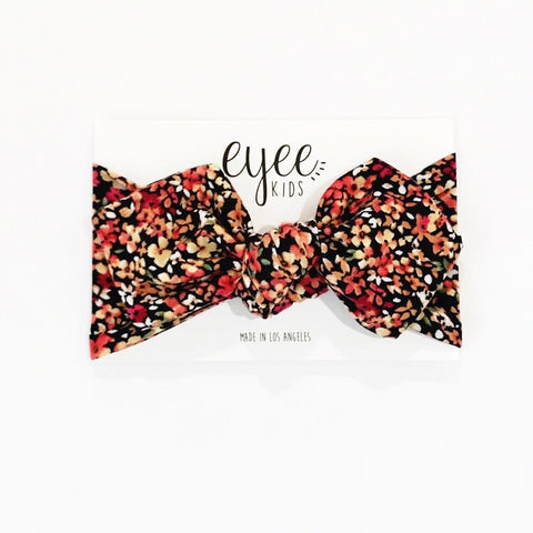 Top Knot Headband- Multi Floral
