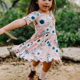 Ruffle Twirl Dress: Blush Floral