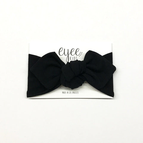 Top Knot Headband- Black