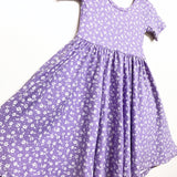 SS20 Classic High-Low Twirl Dress: Lavender Floral