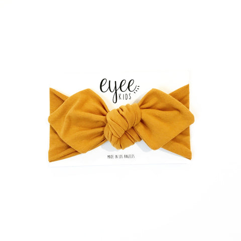 Top Knot Headband- Mustard