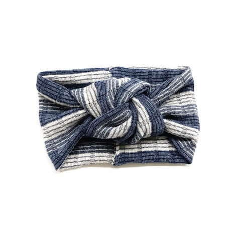 Classic Turban- Blue Ombre Stripes