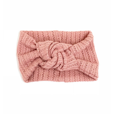 Classic Turban- Dusty Rose Pointelle