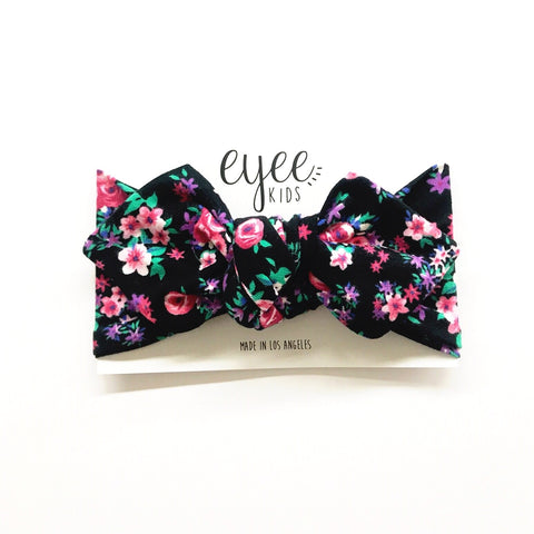 Top Knot Headband- Pink Floral
