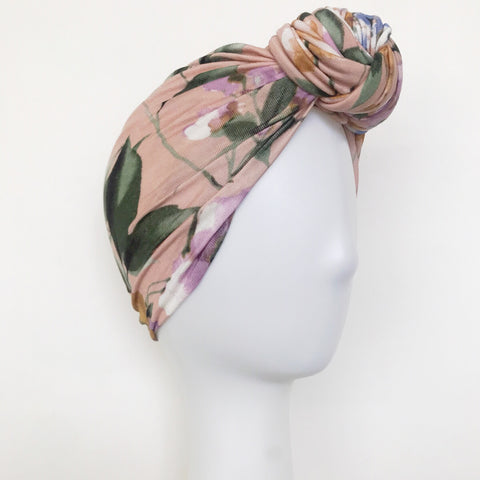 GLAM Knot Turban- Blush Floral