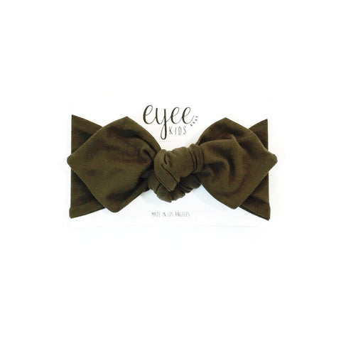 Top Knot Headband- Olive Green