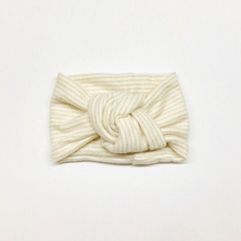 Classic Turban- Golden Ivory Stripe