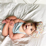 GLAM Knot Turban- White Floral