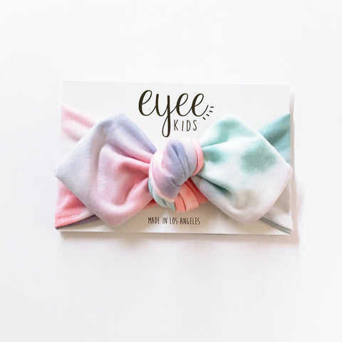 Top Knot Headband- Cotton Candy Tie Dye