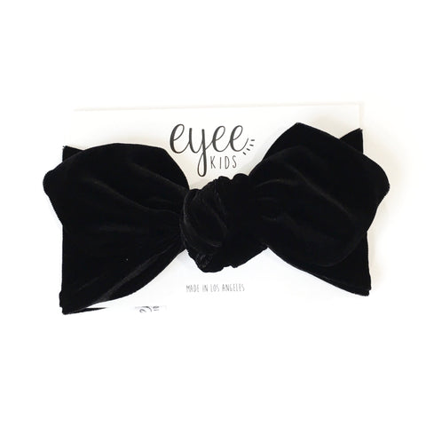 Top Knot Headband- Black Velvet