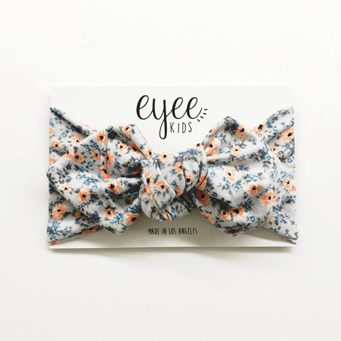 Top Knot Headband- Poppy Floral