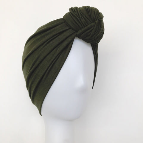 GLAM Knot Turban- Olive