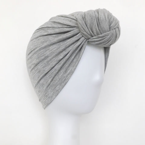 GLAM Knot Turban- Heathered Grey