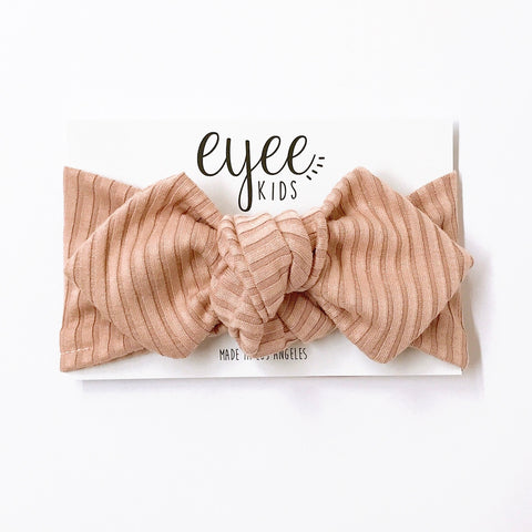 Top Knot Headband- Nude (Ribbed Knit)