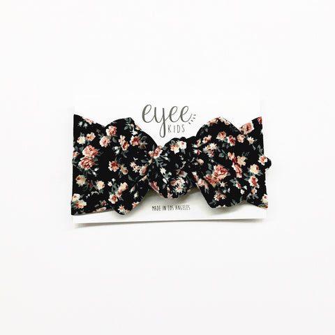 Top Knot headband- Winter Bloom