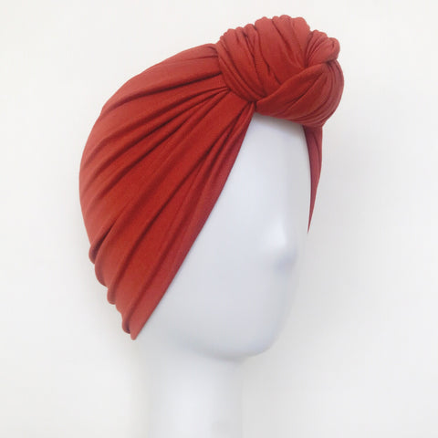 GLAM Knot Turban- Rust