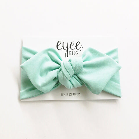 Top Knot Headband- Mint