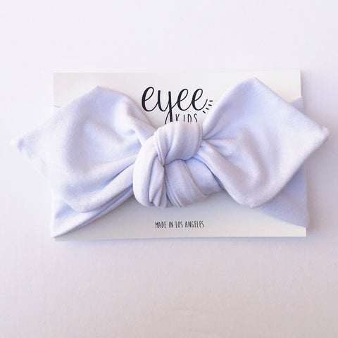 Top Knot Headband- White