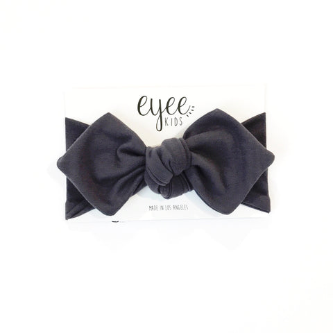 Top Knot Headband- Gunmetal Grey